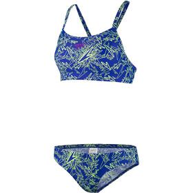 speedo Boom Allover Maillot de bain 2 pièces Femme, blue/green